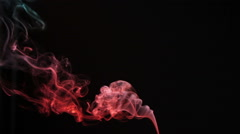 Variegated smoke in the dark Stock Footage