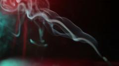 Multicolor smoke in the dark Stock Footage