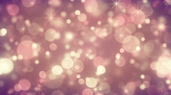 Yellow magenta circle bokeh lights falling loopable background 4k (4096x2304) Stock Footage