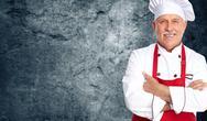 Chef man. Stock Photos