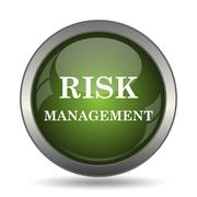Risk management icon. Internet button on white background. . Stock Illustration