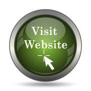 Visit website icon. Internet button on white background. . Stock Illustration