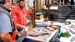 Fish market Stock Footage