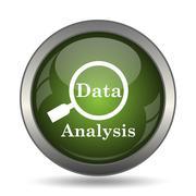 Data analysis icon. Internet button on white background. . Stock Illustration
