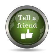 Tell a friend icon. Internet button on white background. . Stock Illustration