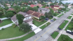 Suburban homes aerial Stock Footage