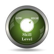 Skill level icon. Internet button on white background. . Stock Illustration