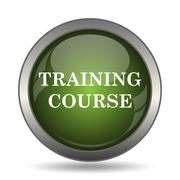 Training course icon. Internet button on white background. . Stock Illustration