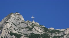 Heroes' Cross - Romania world's largest cross at high altitude, 4k, UHD Stock Footage