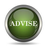 Advise icon. Internet button on white background. . Stock Illustration