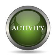Activity icon. Internet button on white background. . Stock Illustration