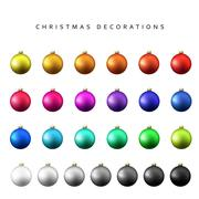 Christmas decoration balls range. Stock Illustration