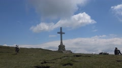 Plateau next to Heroes' Cross  in Caraiman Mountains 4k UHD Stock Footage