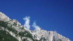 Bucegi Mountains Carpathians Romania magnificent view Stock Footage
