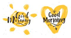 Vector illustration of heart and sun with lettering Piirros