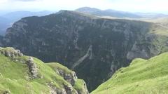 Impressed view of Bucegi Mountains  Carpathians Romania left pan 4k UHD Stock Footage