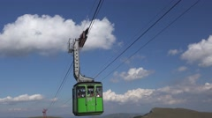 CARAIMAN MOUNTAINS ROMANIA-Circa JULY 2016:Cable car  with tourists  4k UHD Stock Footage