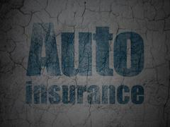 Insurance concept: Auto Insurance on grunge wall background Stock Illustration