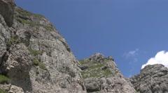 Wonderful view of Bucegi Mountains  Carpathians 4k UHD Stock Footage