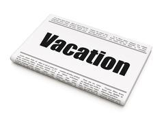 Holiday concept: newspaper headline Vacation Stock Illustration