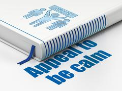 Political concept: book Election Campaign, Appeal To Be Calm on white background Stock Illustration