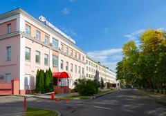 TV and radio company Gomel, street Pushkin 8, Gomel, Belarus Stock Photos