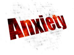 Medicine concept: Anxiety on Digital background Stock Illustration