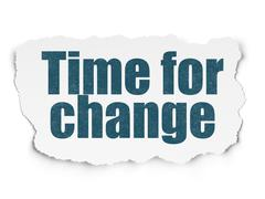 Time concept: Time for Change on Torn Paper background Stock Illustration