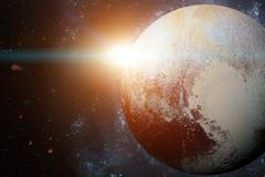 Solar System - Pluto. It is a dwarf planet in the Kuiper belt. Stock Photos