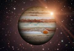 Solar System - Jupiter. It is the fifth planet from the Sun. Kuvituskuvat