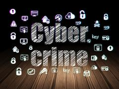 Security concept: Cyber Crime in grunge dark room Piirros