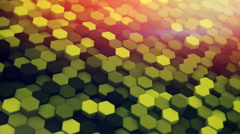 Hexagons waving 3D render loopable animation 4k UHD (3840x2160) Stock Footage