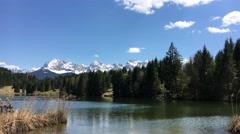Lake in Bavaria - Geroldsee Bayern Stock Footage
