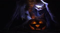 Halloween night Stock Footage