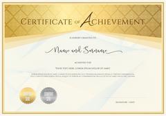 Certificate template for achievement, appreciation, completion or participati Stock Illustration