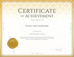 Certificate template for achievement, appreciation, participation or completi Stock Illustration