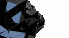3d black abstract geometric body changing its shape Stock Footage