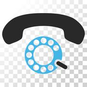 Pulse Dialing Vector Icon Stock Illustration
