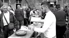 Fish market in Catania. Sicily, Italy Stock Footage