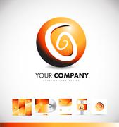 Abstract sphere sign logo icon design Stock Illustration