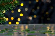 Christmas background with needles Stock Photos