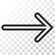 Arrow Right Vector Icon Stock Illustration