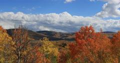 Brilliant beautiful autumn mountain valley DCI 4K Stock Footage