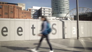 Pedestrians near New Street Station, Birmingham, England. Stock Footage