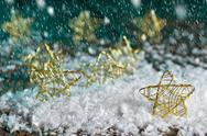 Christmas stars in the snow Stock Photos