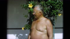 1952: the lovely old couple bathe in the early morning sun CAMDEN, NEW JERSEY Stock Footage