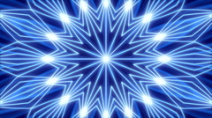 Blue abstract background, kaleidoscope light and particles, loop Stock Footage