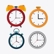 Traditional clock and chronometer design Stock Illustration