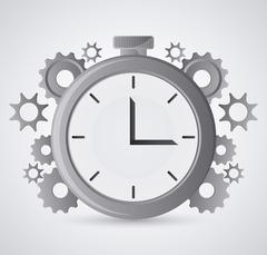 Gears and chronometer design Stock Illustration