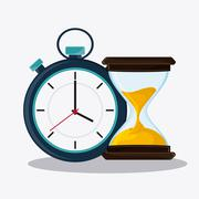 Hourglass and chronometer time design Stock Illustration